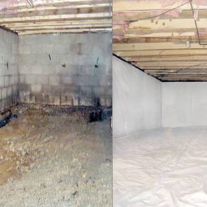 Before and After Basement foundation waterproofing
