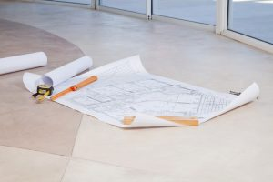 A blueprint for a crawl space floor waterproofing.